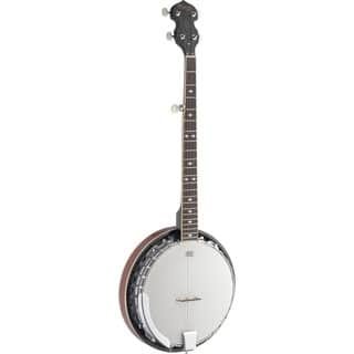 Stagg BJM30 DL Deluxe White Wood 5-string Bluegrass Banjo|https://ak1.ostkcdn.com/images/products/13042422/P19782108.jpg?impolicy=medium