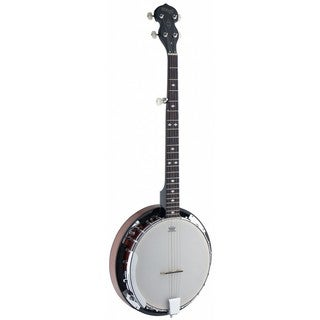 Stagg BJW24 DL Deluxe 5-string Western Banjo with Wood Pot
