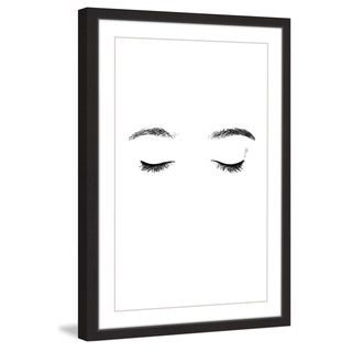 Marmont Hill - 'Lashes and Brows' by Katarina Snygg Framed Painting Print