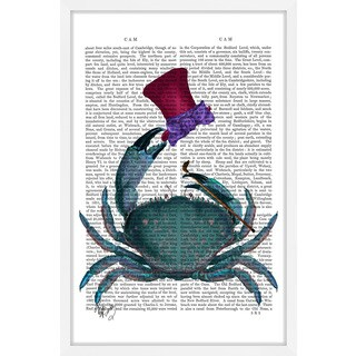 Marmont Hill - 'The Dandy Crab' Framed Painting Print