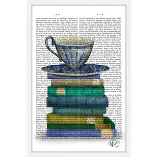 Marmont Hill - 'Teacup and Books' Framed Painting Print