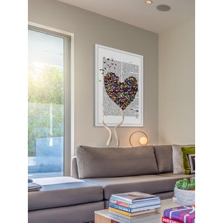 Marmont Hill - 'Butterfly Heart' Framed Painting Print