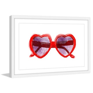 Marmont Hill - 'Red Sunglasses' Framed Painting Print