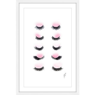 Marmont Hill - 'Rows of Lashes' Framed Painting Print