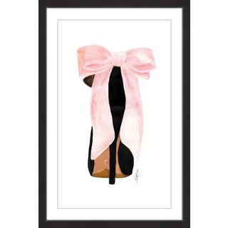 Marmont Hill - 'Pink Shoe Bow' Framed Painting Print