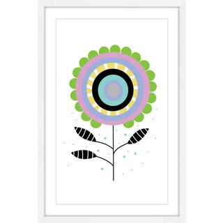 Marmont Hill - 'Circle Flower' by Katarina Snygg Framed Painting Print