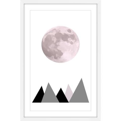 Marmont Hill - Handmade Pink Moon Framed Print