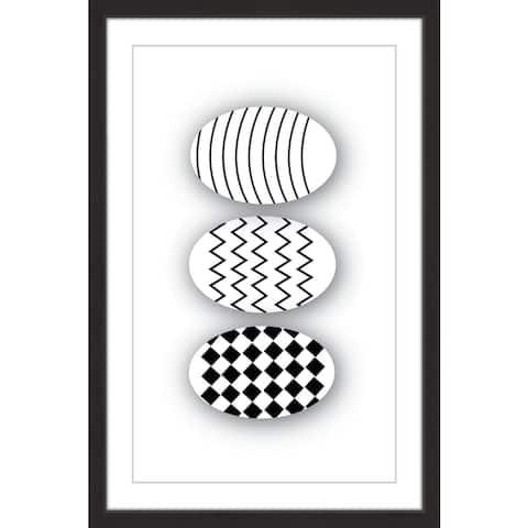 Marmont Hill - Handmade Patterned Eggs Framed Print