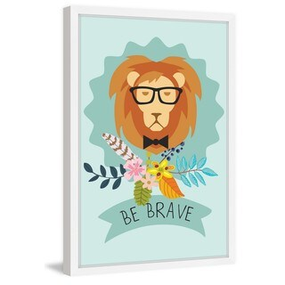 Marmont Hill - 'Be Brave Lion' Framed Painting Print