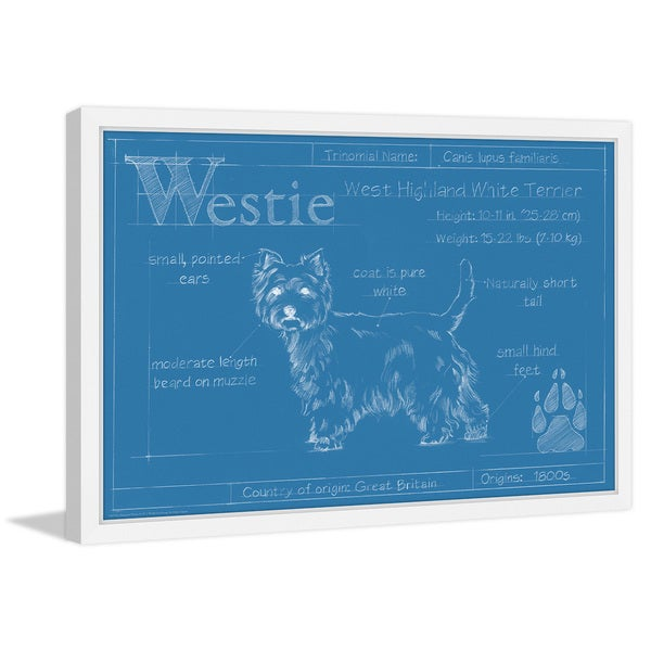 Shop Marmont Hill - 'Westie' Framed Painting Print - Multi - On Sale
