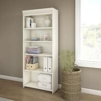 Maison Rouge Washington Antique White 5-shelf Bookcase