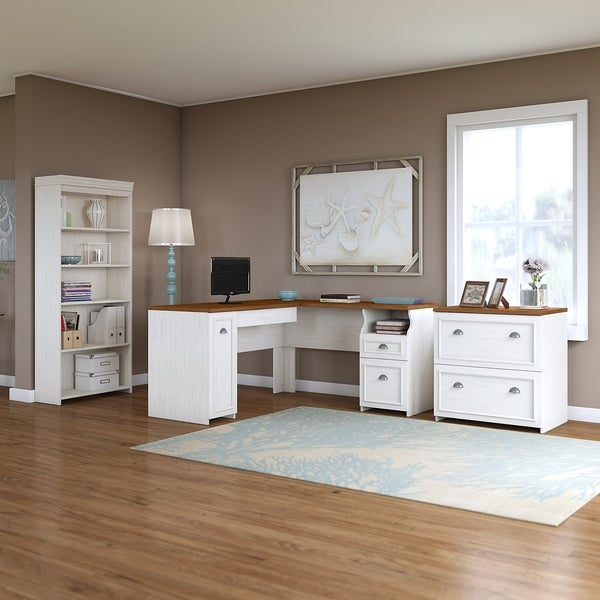 Shop Fairview L Shaped Desk With Bookcase And Lateral File