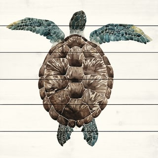 Marmont Hill - 'Mosaic Turtle I' Painting Print on White Wood