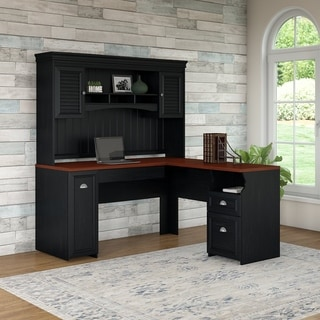 Fairview L Shaped Desk with Hutch