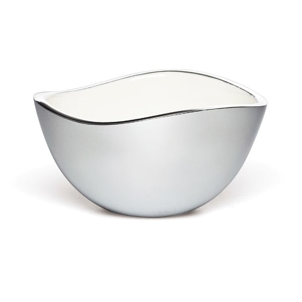 Savora White Alloy 6-inch Serving Bowl