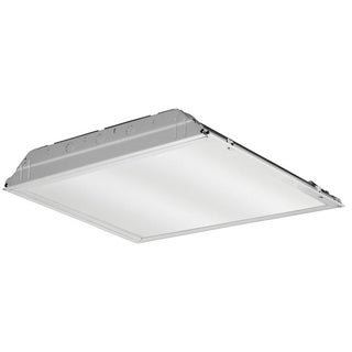 Lithonia Lighting White Aluminum 2 x 2 Lay-In Troffer with Prismatic Lens