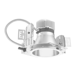 Lithonia Lighting LDN6 40/10 120 HSG Silvertone Metal 6-inch Recessed LED Commercial Downlight Housing