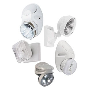 Lithonia Lighting ELA LED M12 White Thermoplastic LED Emergency Remote Head