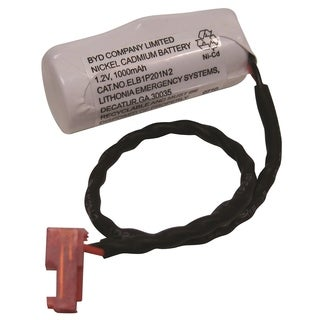 Lithonia Lighting White 1.2-volt Ni-Cad Replacement Battery