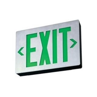 Lithonia Lighting LE S 1 G EL N Signature Green Die-cast Aluminum LED Single-face Exit Sign