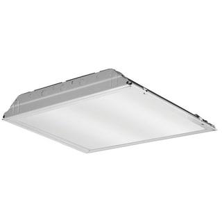 Lithonia Lighting White Metal LED Lensed Troffer