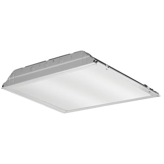 Lithonia Lighting White 2-foot 4,000K LED Lay-in Troffer Light Fixture with Prismatic Lens