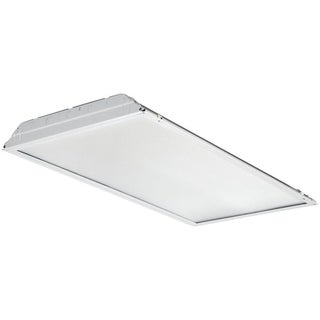 Lithonia Lighting White Aluminum 2 x 4 Contractor Select LED Lensed Troffer