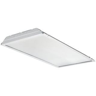 Lithonia Lighting White Aluminum 2 x 4 LED Lay-in Troffer with Prismatic Lens