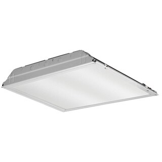 Lithonia Lighting White Metal 2 x 2 LED Lay-in Troffer with Prismatic Lens