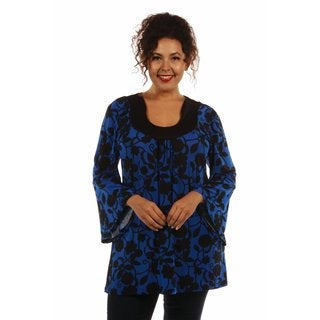 European Vogue High Style Plus Size Tunic Top