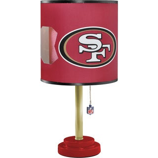 San Francisco 49ers Red Wood and Plastic Table Lamp