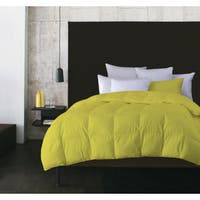 Solid Color Microfiber Feather Comforter