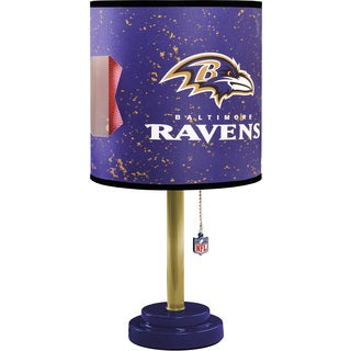 Baltimore Ravens Purple, Gold, and Black MDF and Plastic Table Lamp