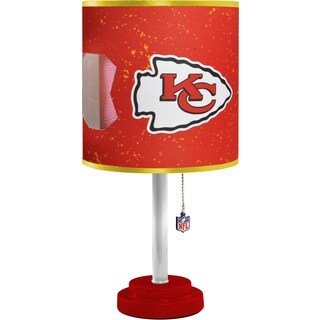 Red MDF and Plastic Kansas City Chiefs Table Lamp
