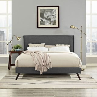 Modway Camille Grey Fabric Platform Bed