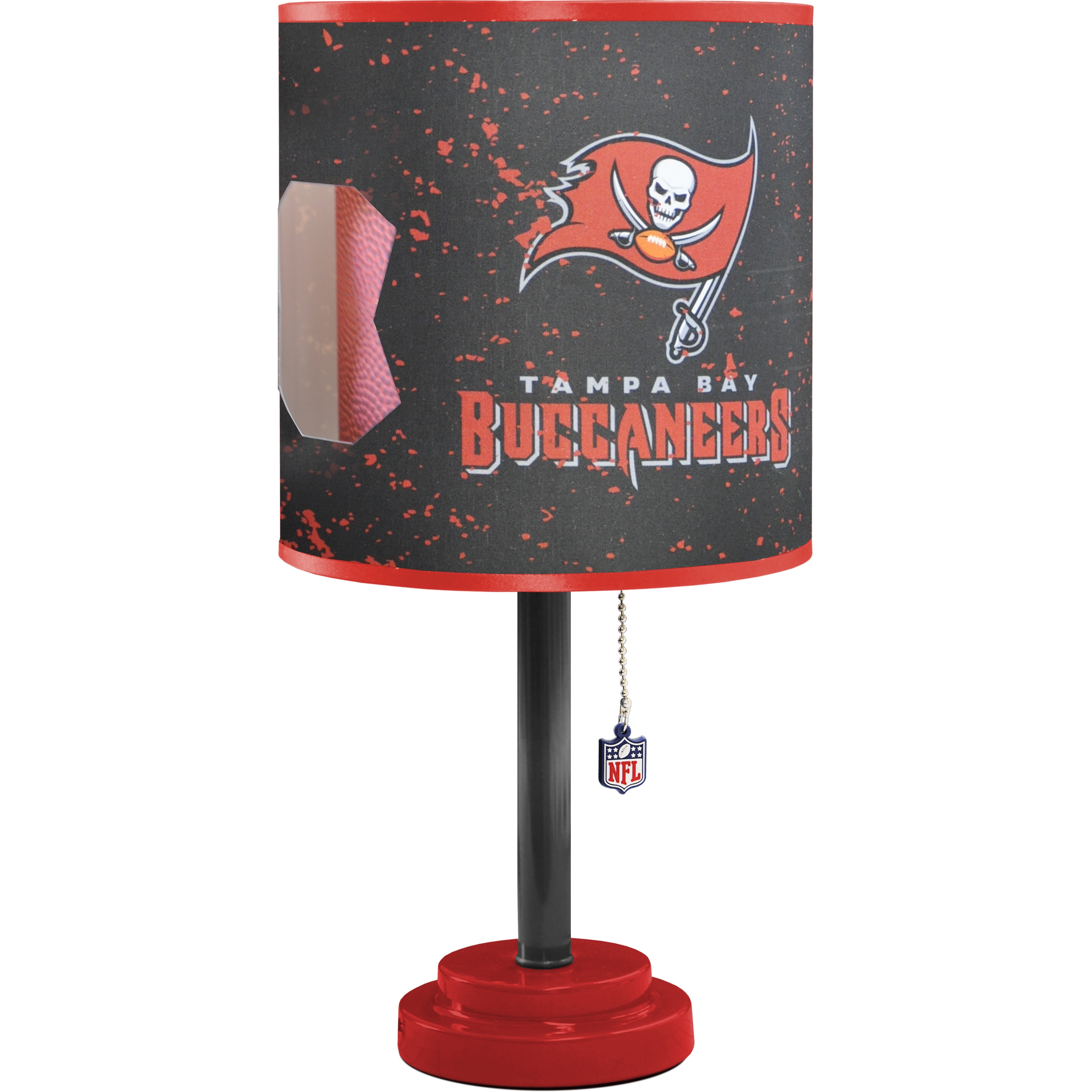 Red And Black Mdf And Plastic Tampa Bay Buccaneers Table Lamp Ebay
