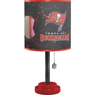 Red and Black MDF and Plastic Tampa Bay Buccaneers Table Lamp