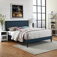 Modway Camille Azure Fabric Wood Platform Bed