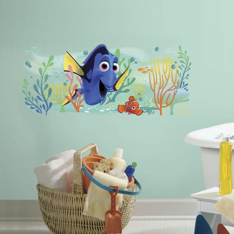 Finding Dory and Nemo Multicolored Peel and Stick Giant Wall Graphic