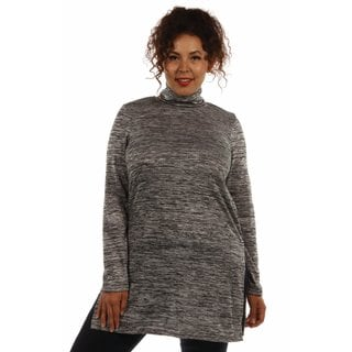 Studious Glamour Mock Turtleneck Plus Sized Tunic