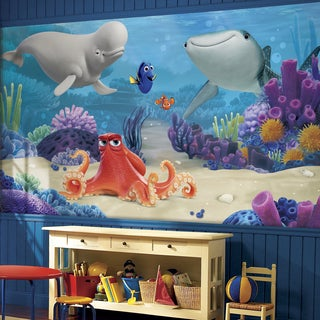 Roommates Finding Dory 6-feet x 10.5-feet XL Chair Rail Prepasted Ultra-strippable Mural