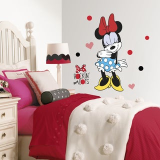 Roommates Minnie Rocks the Dots Peel and Stick Giant Wall Decals
