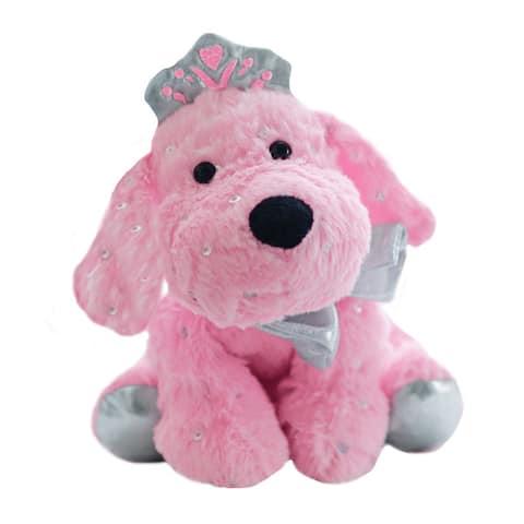 Jewels Plush Puppy Toy - Pink
