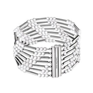 Calvin Klein Women's Chaplet White Stainless Steel Fashion Bracelet