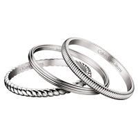 Calvin Klein Stainless Steel Waves Fashion Bracelet