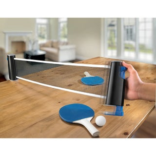 Sharper Image Retractable Table Top Tennis Game