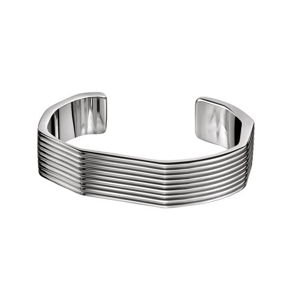Calvin Klein Women's Stainless Steel Geometric Fashion Bracelet