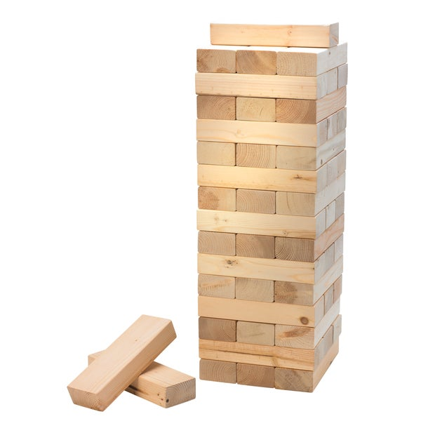 Black Series Game Stacking Wood Blocks