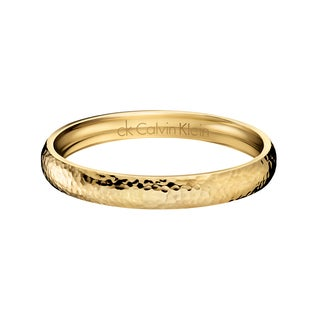 Calvin Klein Women's Yellow Goldtone PVD-coated Stainless Steel Women's Fashion Bracelet (2 options available)