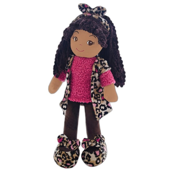 GirlznDollz Emme Pink Leopard Fabric Doll